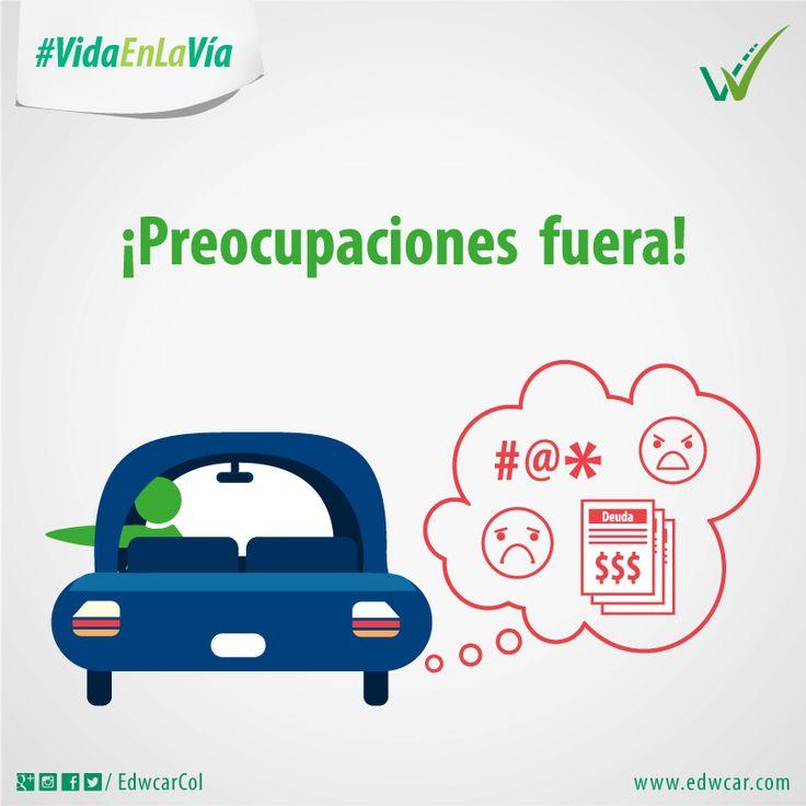 Antes de salir a conducir deja fuera todas tus preocupaciones. Conduce preservando la #VidaEnLaVía.