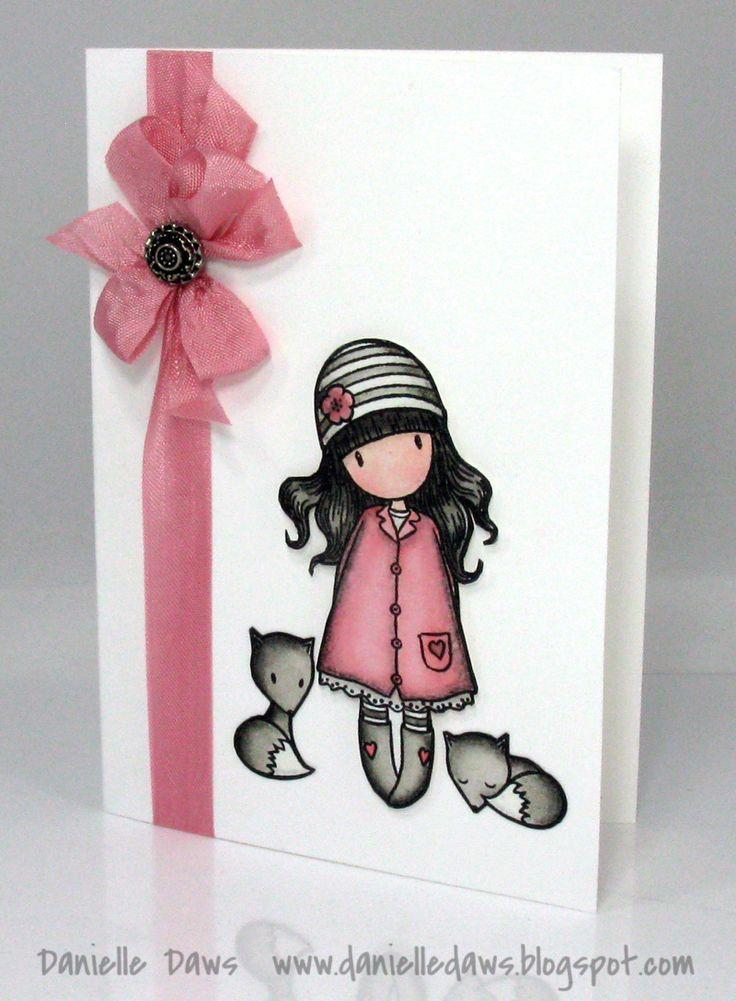 День, маленькая милая открытка своими руками