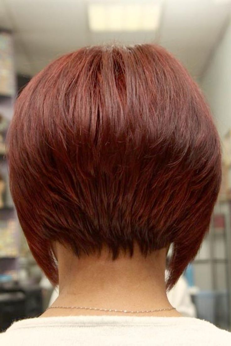 Bob haircuts back view - Short Stacked Bob Hairstyles Back View