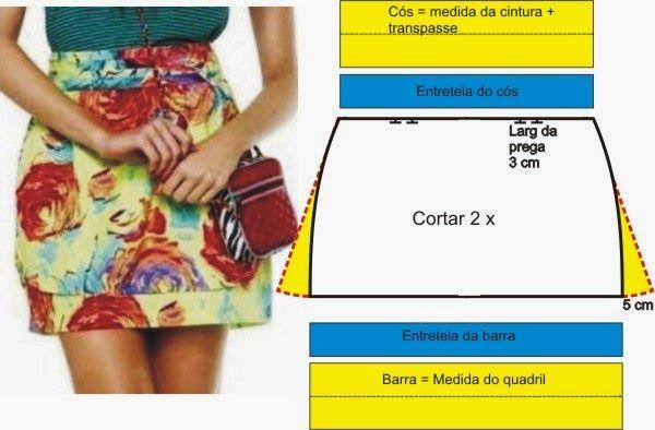 ROBERTTO DIAS: MODELAGEM DE MINI-SAIA COM BARRA DESTACADA