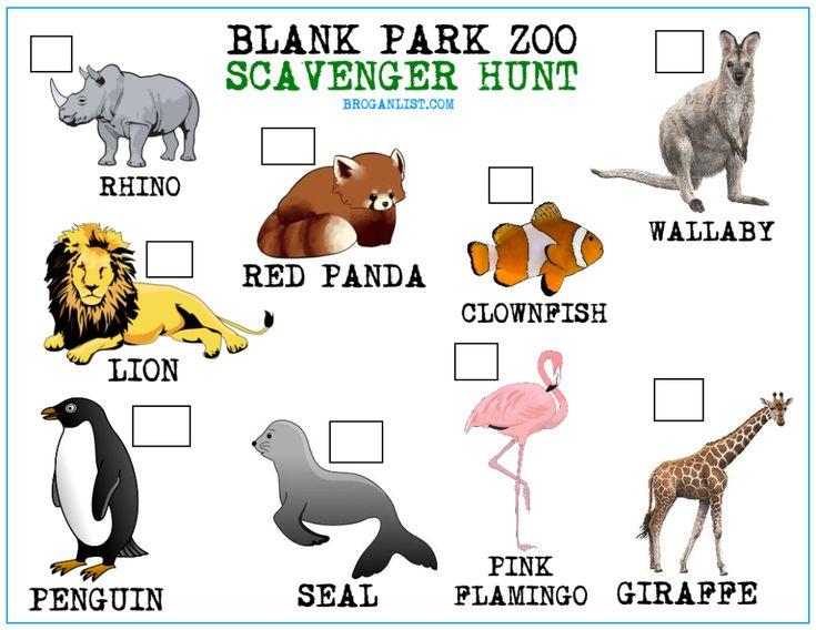 Blank Park Zoo Scavenger Hunt For Kids Stuff To Do In