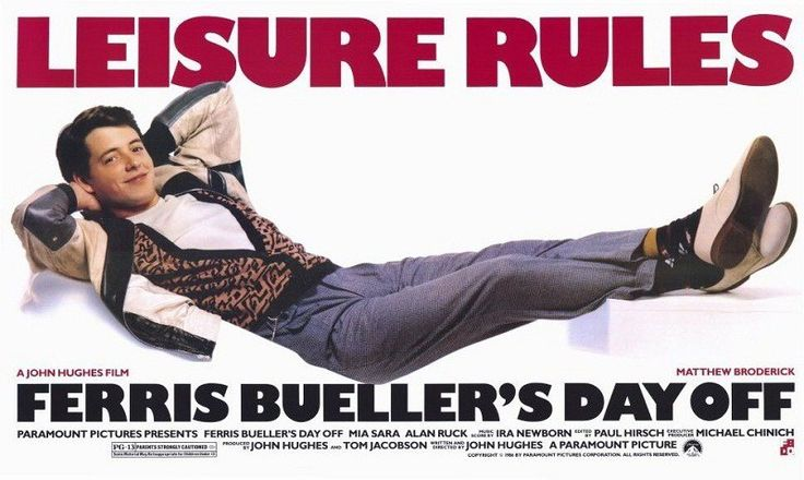 "Feriss Bueller's day off, one of ""Film Jadul"" you must see!"