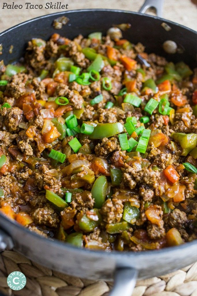 Paleo Taco Skillets & Paleo Taco Bowls are a quick, delicious and easy gluten free, whole 30 and paleo friendly one pot meal the whole family loves!