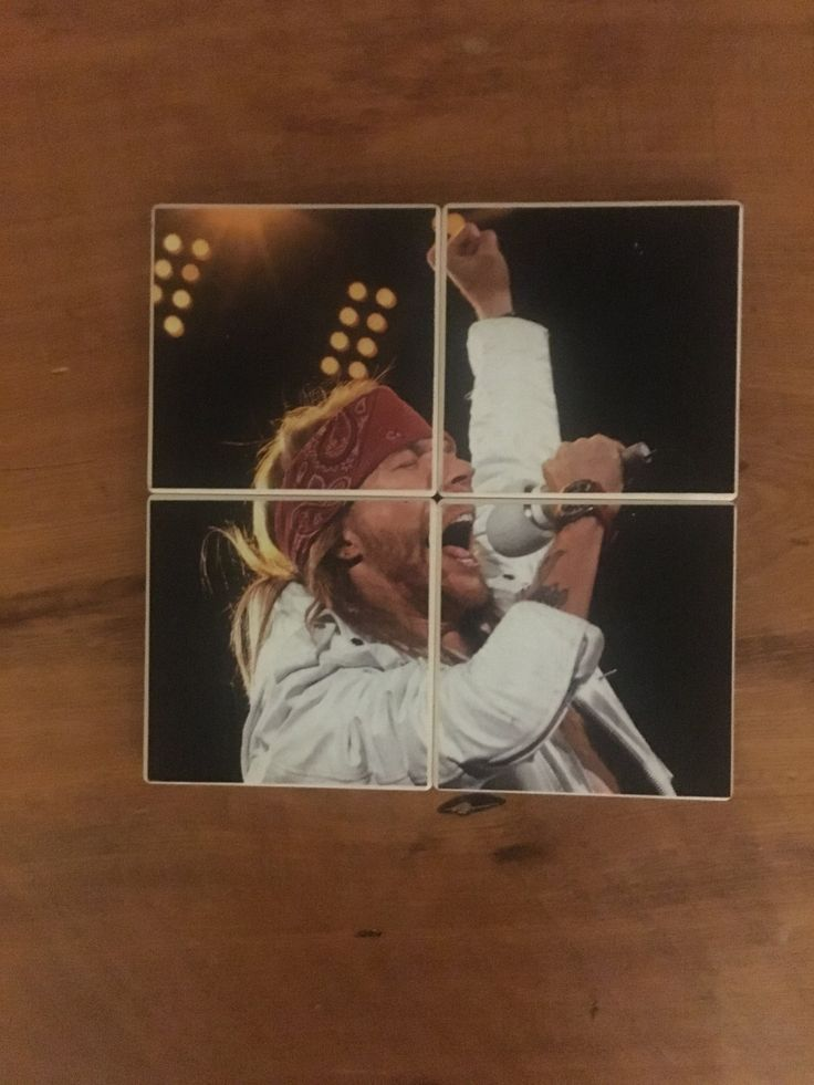 Axl Rose Lead Singer Rock and Roll Guns n' Roses AC/DC Rolling Stone Magazine on a Set of 4 Ceramic Heat Resistant Drink Beverage Coasters by UpcyclingIt on Etsy