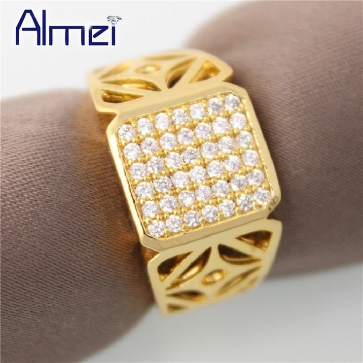 Fabulous Find More Rings Information about Almei off Fashion Square Engagement Rings for Men Jewelry