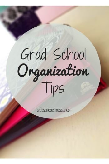 Stay organized in grad school with these tips! | www.gradschoolstruggle.com