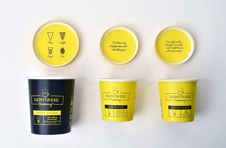 Creating Cool: Ice Cream Packaging That Will Make Your Mouth Water demitasse creamery