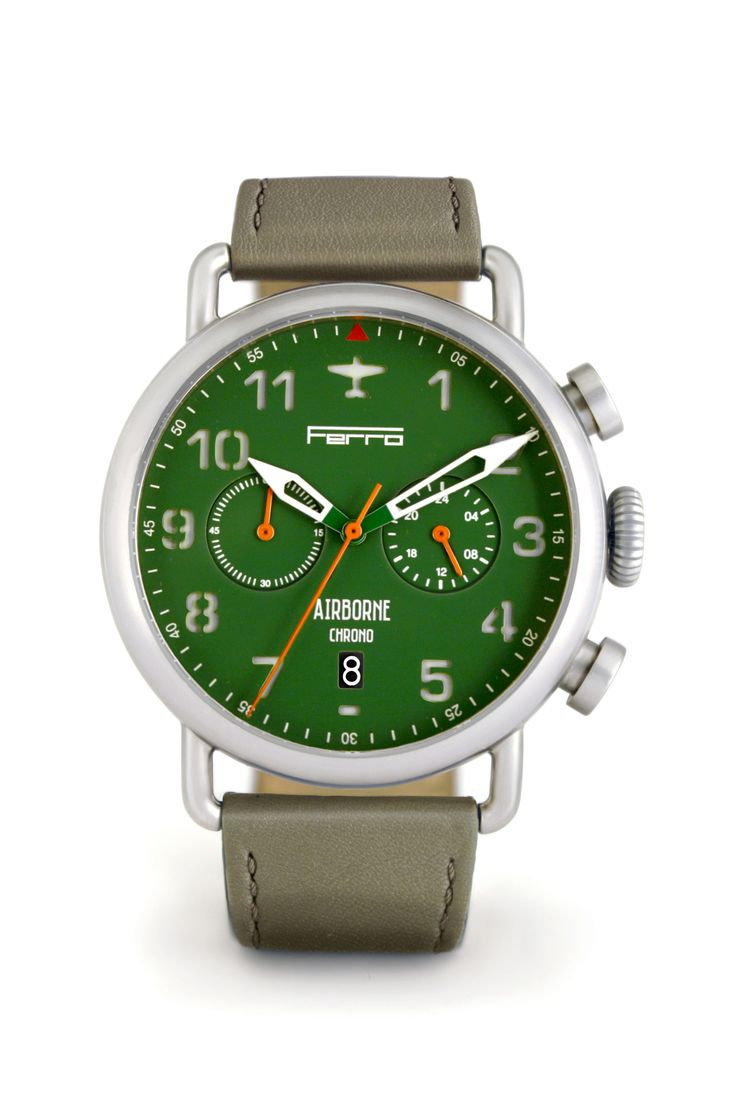 bracelet accurist hinds green watches jewellers chronograph mens steel face stainless watch f