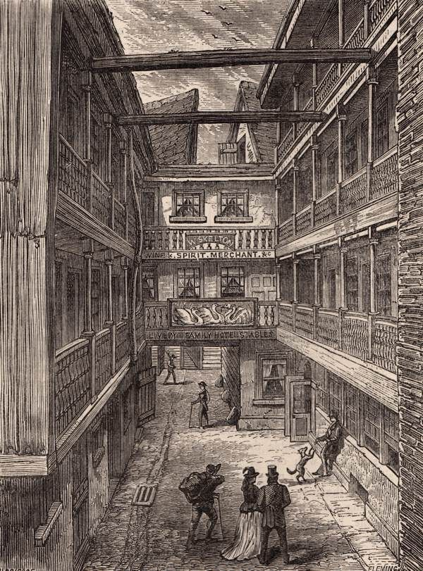 Long forgotten London - the four Swans Inn, Bishopgate, shortly before…