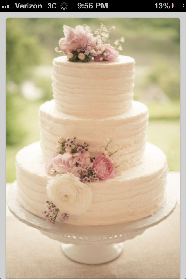 soft icing recipe for wedding cake wedding cake idea white icing with pink an ivory flowers 20277