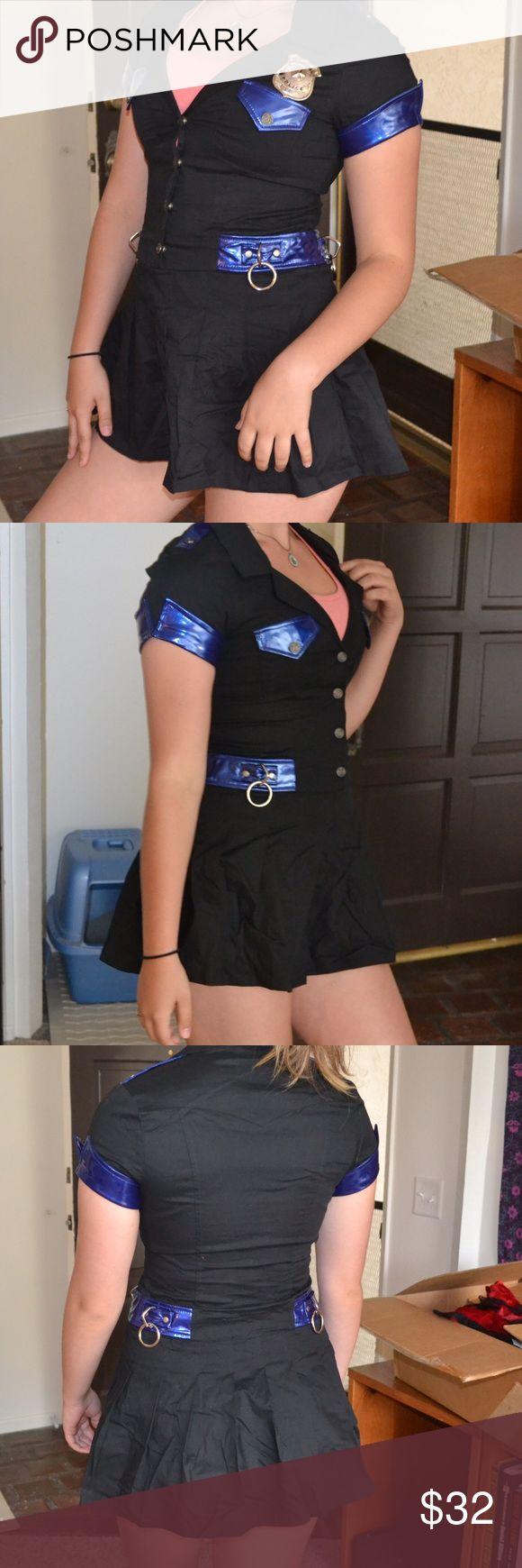 Lip service vice fetish sexy Cop Halloween costume Lip Service Sexy Police Officer Halloween Costume with Badge - never worn Lip Service Dresses Mini