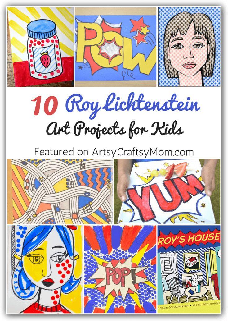 10 Roy Lichtenstein Art Projects for Kids
