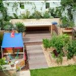 small backyard with vegetables