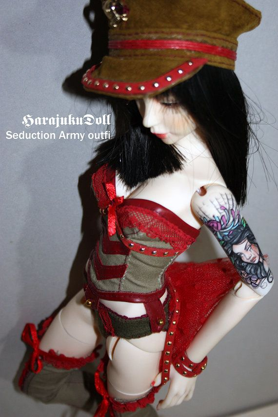 HarajukuDoll Seduction Army outfit for slim msd by killingsissy