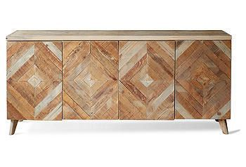 Furniture: Cabinets & Shelving: Sideboards & Media Storage - One Kings Lane ===  cool pattern and good console size