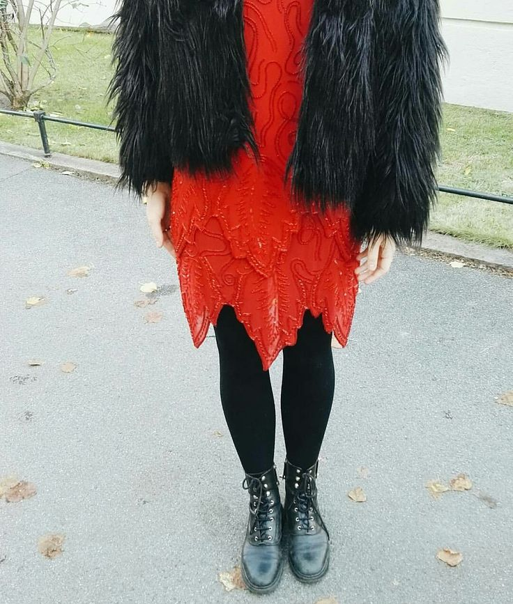 Red Vintage dress at SoBo