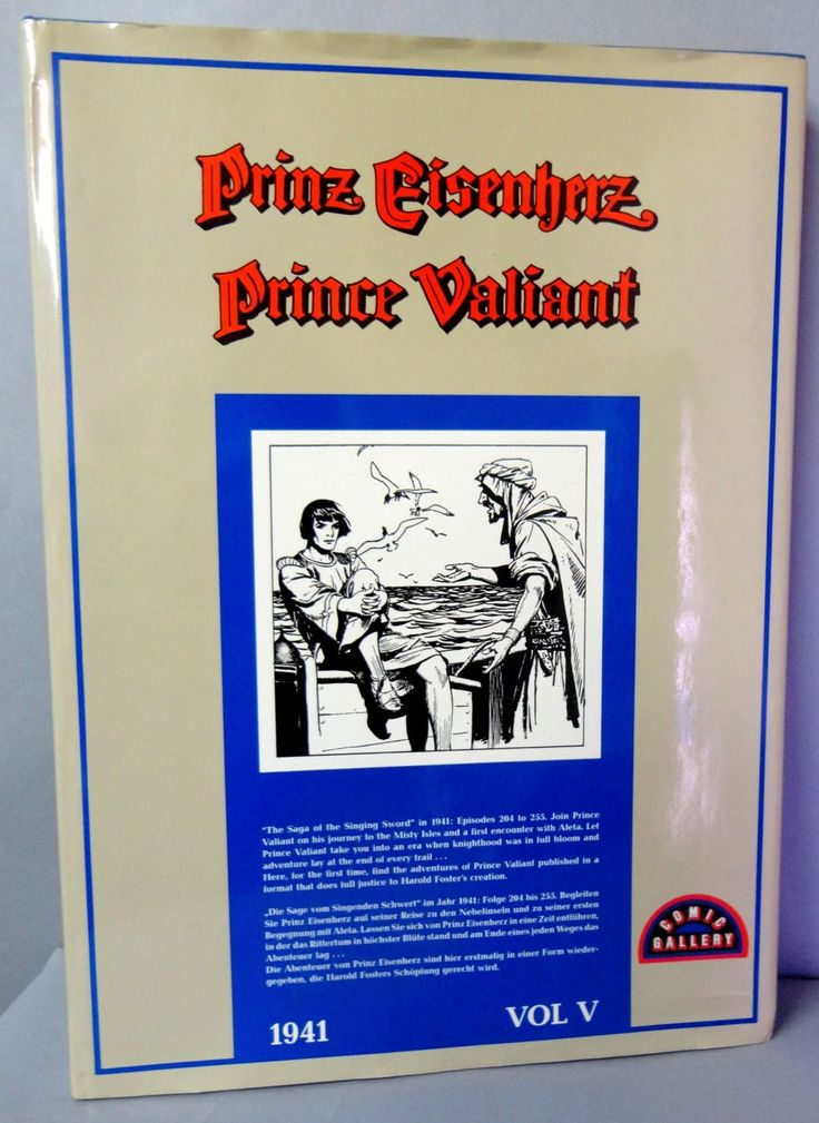 "PRINCE VALIANT Prinz Eisenherz Volume V 1941 Hal Foster ""Saga of the Singing Sword"" episodes 204-255 Newspaper Comic Strips Funnies Reprints"
