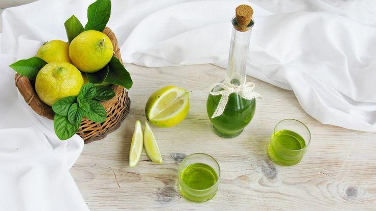 Liquore alla menta e limone 2