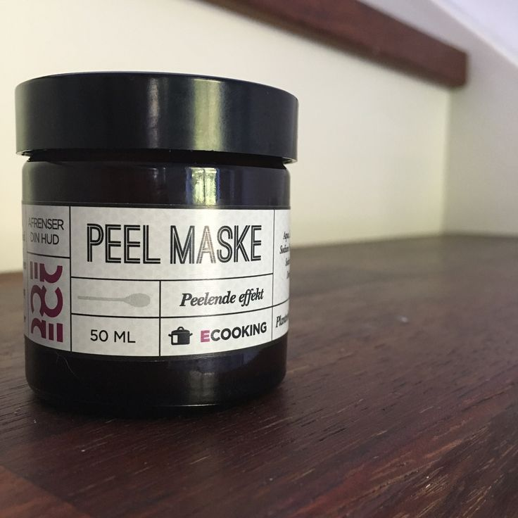 Ecookings peel maske. – makeeverythingup.dk