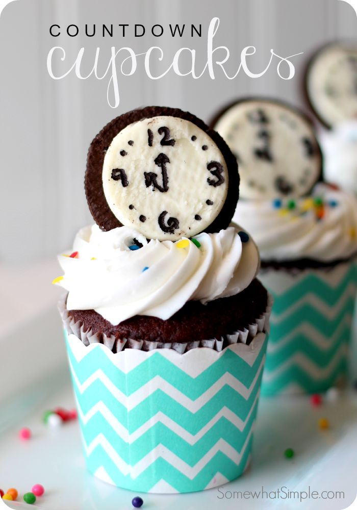 Food for New Years Eve- Countdown Cupcakes on SomewhatSimple.com