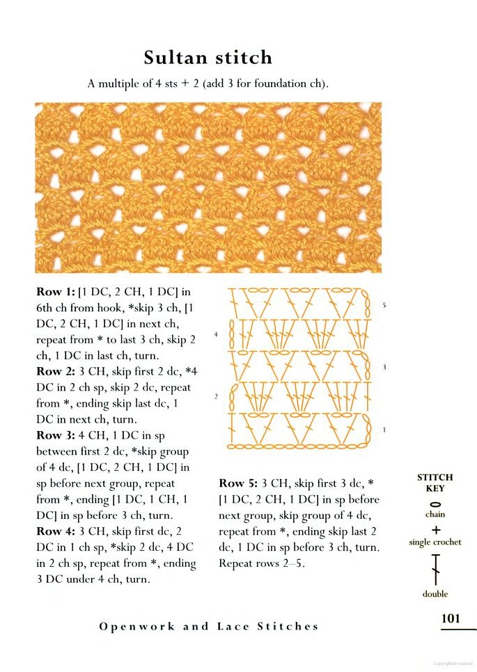 Crochet Stitch Reference : The Crochet Stitch Bible - how to crochet sultan stitch Crochet ...