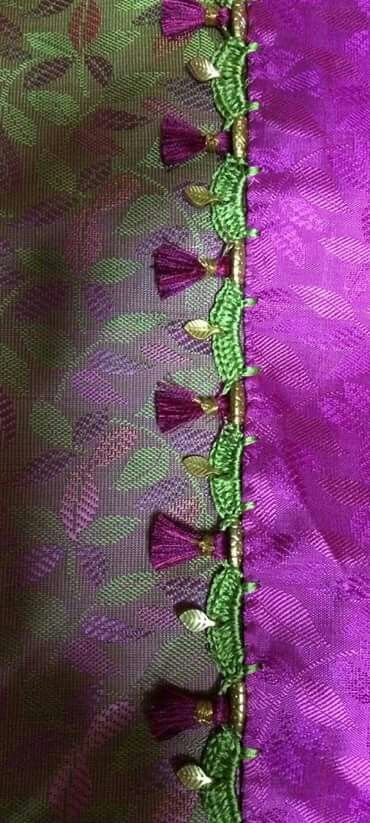 Crochet Lace Patterns For Sarees : 243 best images about Saree tassels on Pinterest ...
