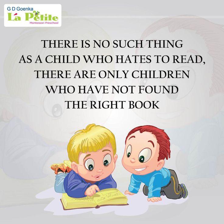 Always give children the book that ignites their curiosity.  #ChildCare #Education #PreSchool #GdGoenka #Montessori