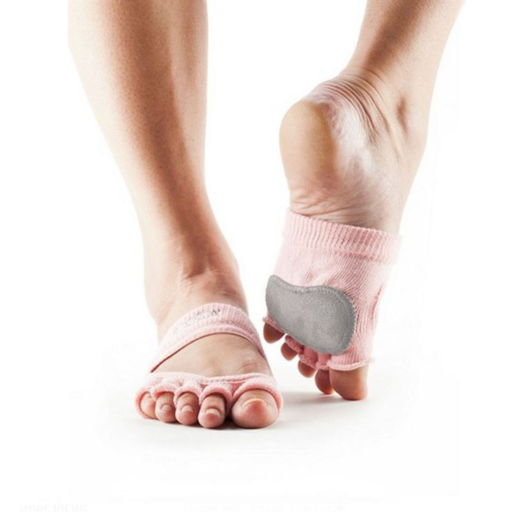 ToeSox Releve Grip Socks Half toe design lets toes touch surface for a more  barefoot experience Five toe design allows toes to move and spread naturally .