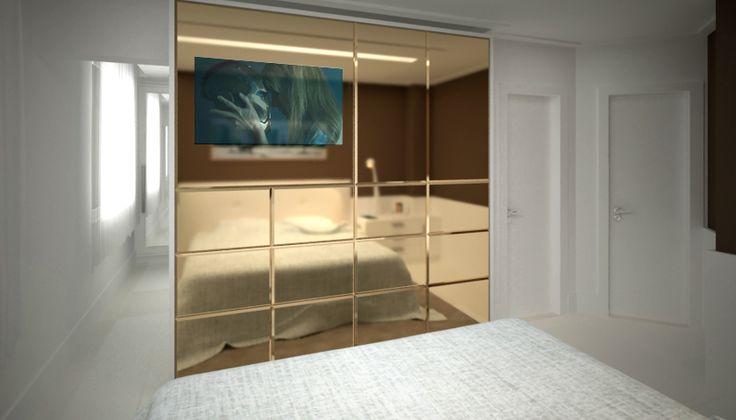 Feira Artesanato Em Ingles ~ Armário espelho bronze refletente 3Dmax e VRAY