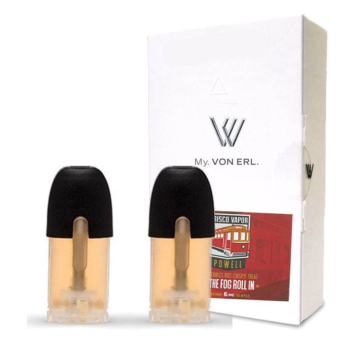 Frisco Vapor My. Von Erl LiquidPods Powell (2 Pack) - Fruity Pebble Rice Krispie Treat.2-Pack of ePods for use with the My. Von Erl VaporizerVon Erl creates a new category in the vaping market with its new My. Von Erl. The great vaping performance of an e-cigarette combined with the modern design of a cigalike. The 350 mAh battery guarantees a great vaping performance. The My. Von Erl Liquidpods (eJuice) for this e-cigarette give you an intense vaping pleasure with a great taste. The…