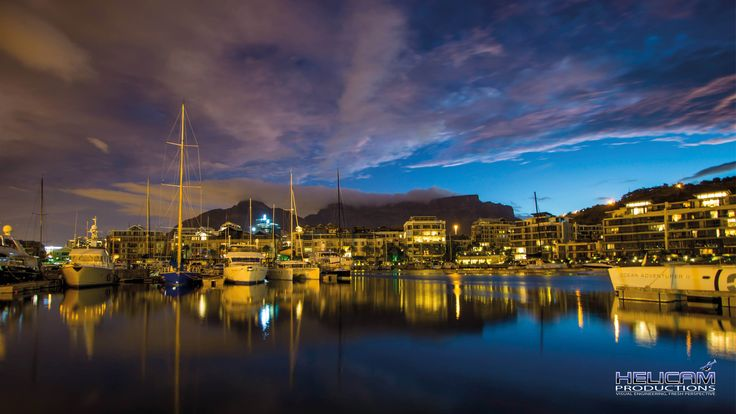 Twilight in Cape Town Harbour