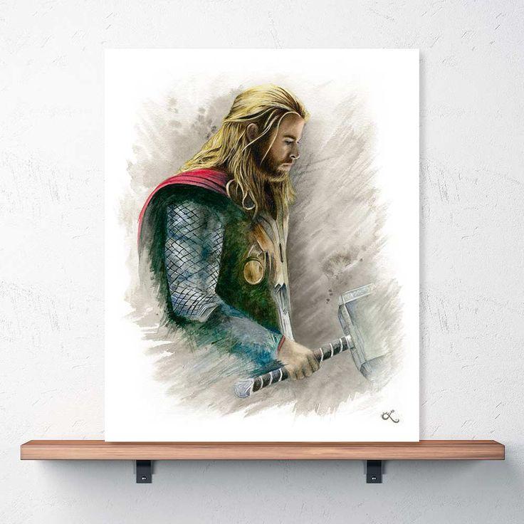 """The Mighty Thor"" Print | Chris Hemsworth"