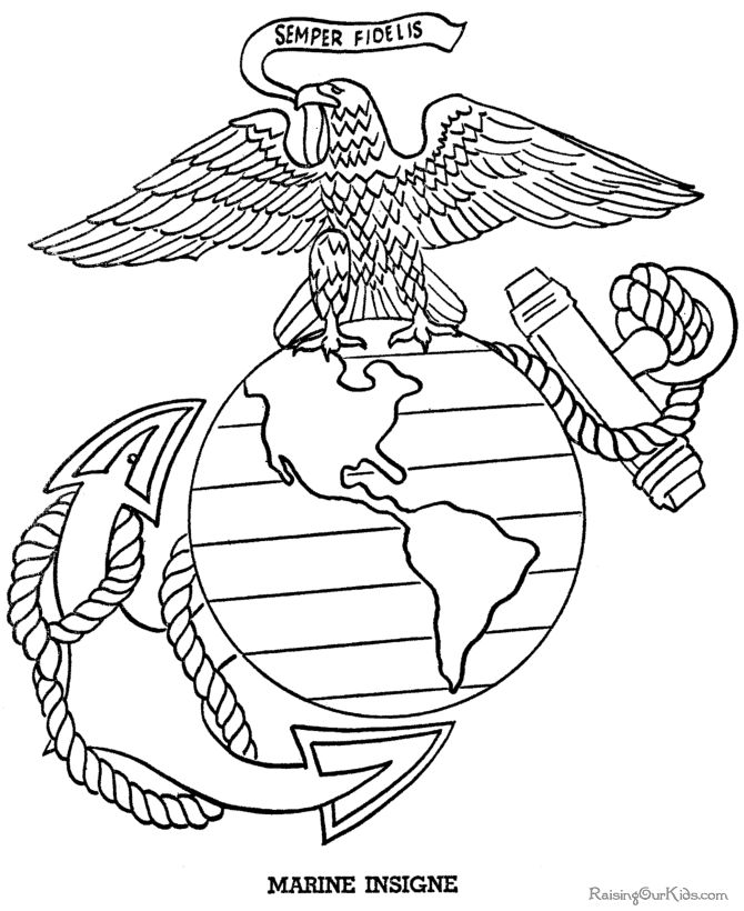 Marine Corps Coloring Pages