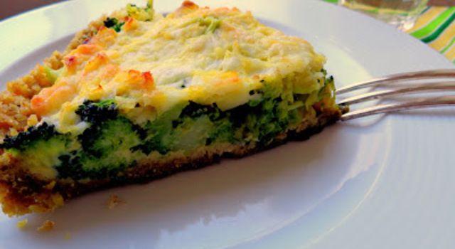 Broccolitaart met havermoutbodem