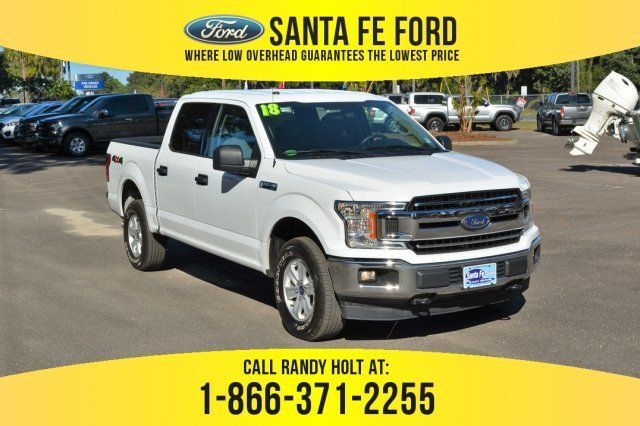 2018 Oxford White Ford F 150 Xlt Truck Automatic 4x4 Used Ford