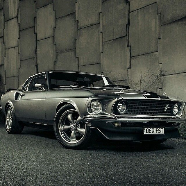 1969 Ford Mustang Fastback i think i like this more than john would! want one of these some kind of bad along with a jacked up truck