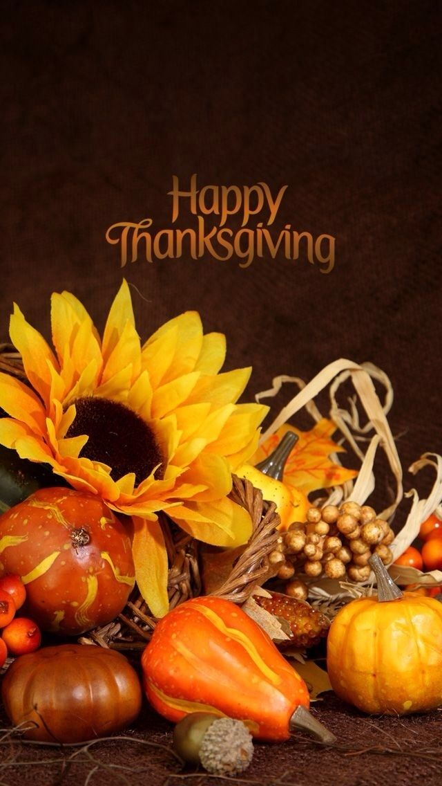 Happy Thanksgiving! The iPhone 5 Wallpaper I just pinned