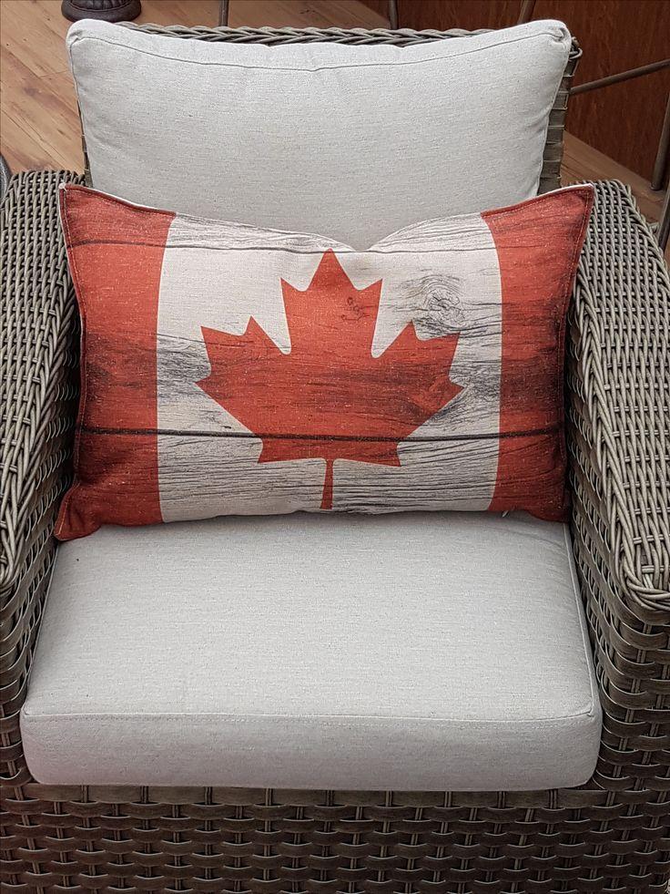 Canada flag pillow