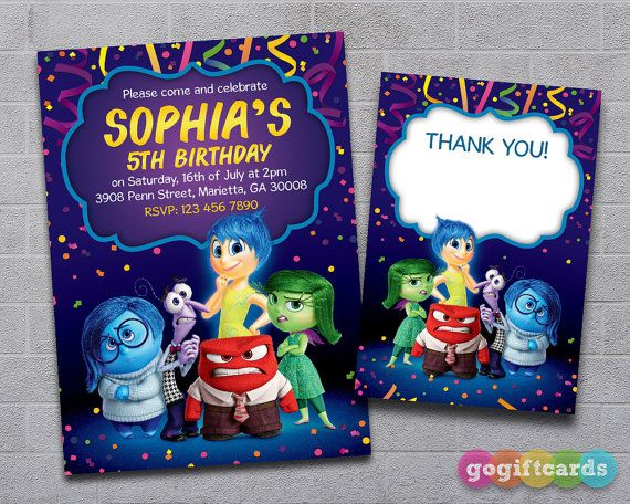 Best Birthday Invitations Images On Pinterest Invitations - Birthday invitations inside out