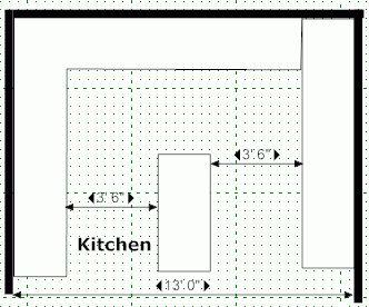 Kitchen Island Designs   Kitchen Floor Plans And Layouts