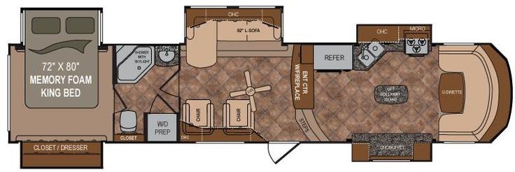 Front Living Fifth Wheel Floor Plans: Dutchmen Infinity Fifth Wheels 3870FK