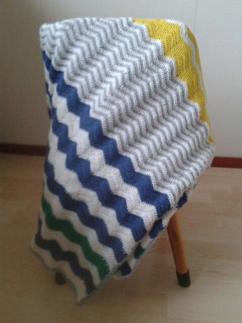 Chevron Blankets Boy Yellow White Grey Blue And Green