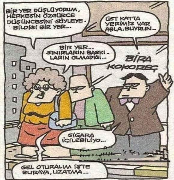 Düşlenen Yer Karikatürü Özer Aydoğan   Karikatürname