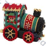 Christmas Train Ornament Pattern Part 1 The Train Engine Bead Pattern By ThreadABead