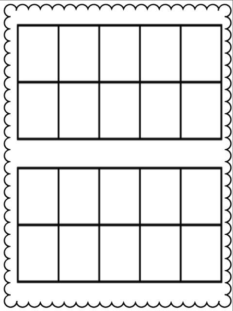 Ten Frame Kristen\u0027s Kindergarten school Kindergarten math
