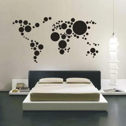 M s de 17 ideas fant sticas sobre mapas del mundo en - Vinilos decorativos mapamundi ...