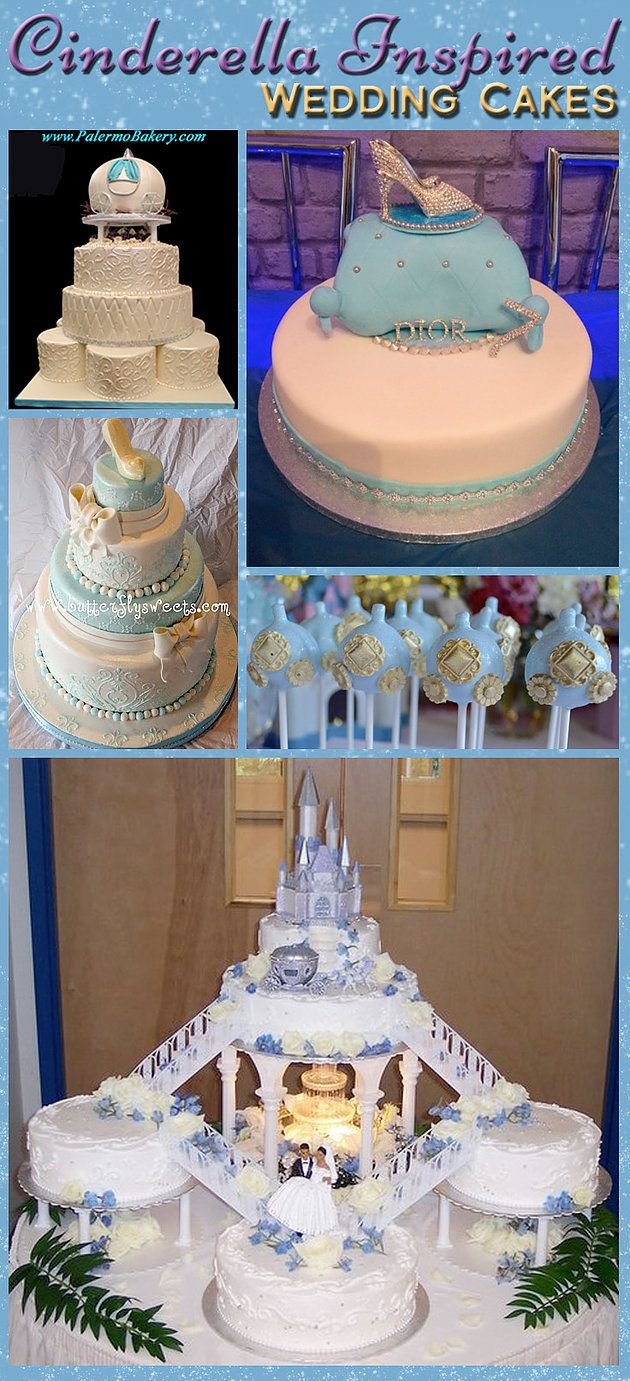 cinderellthemed wedding scroll invitations%0A Cinderella Wedding Cake Inspiration