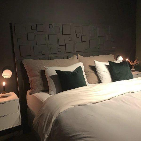 Soverom med veggdekor