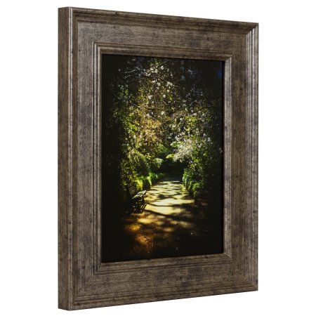Craig Frames Revival, Traditional Antique Silver Picture Frame, 8.5x11 Inch