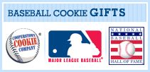 MLB Baseball Cookies, Baseball Gifts, Yankees & Phillies Baseball Merchandise, Tins, gifts, souvenirs:  Cooperstown Cookie Company